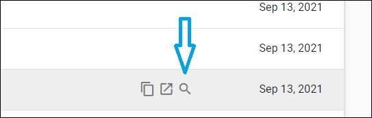 """This URL Inspection button is on the right in the same line as the """"excluded"""" URL."""